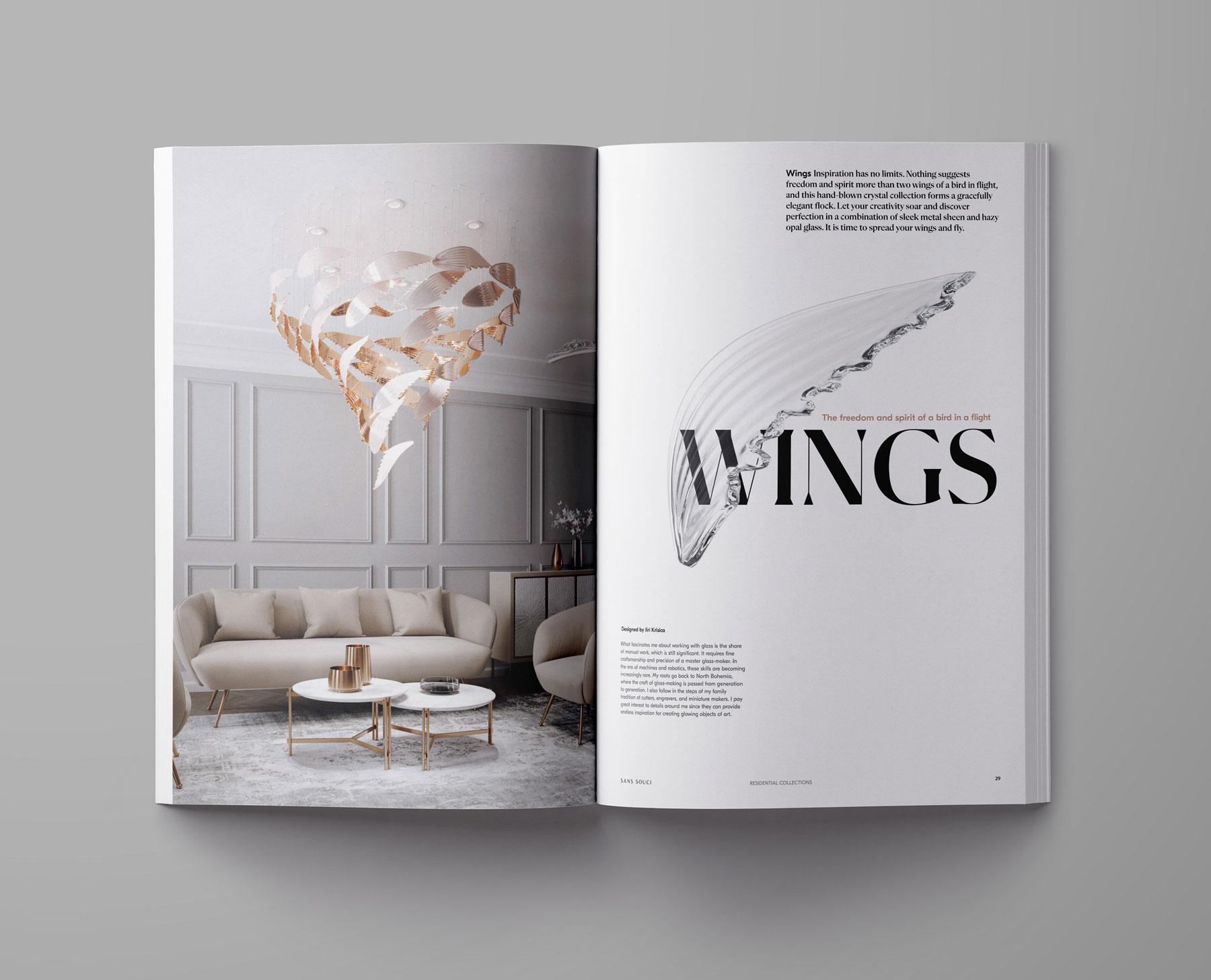 Sans Souci visual identity Catalogue
