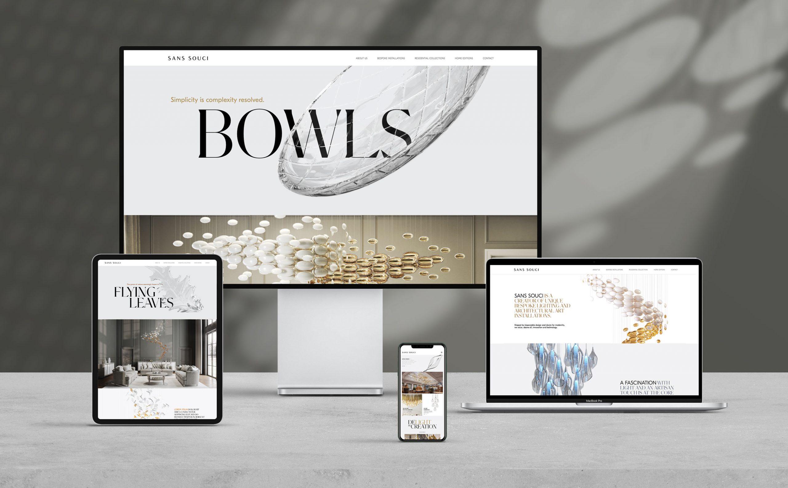 Sans Souci Website design